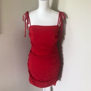 Lovers + Friends Dresses - NWT Lovers + Friends Amy Cherry Red Mini Dress